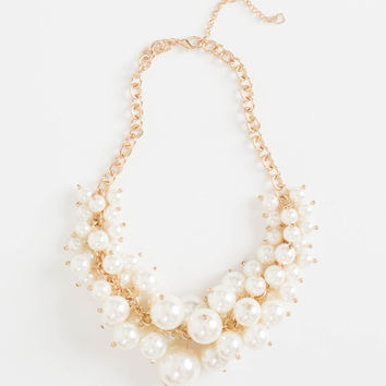 Tiffany Pearl Satement Necklace