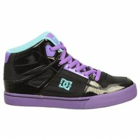 Athletics DC Shoes Kids' Spartan Hi Blk/Fluorescentpurpl FamousFootwear.com