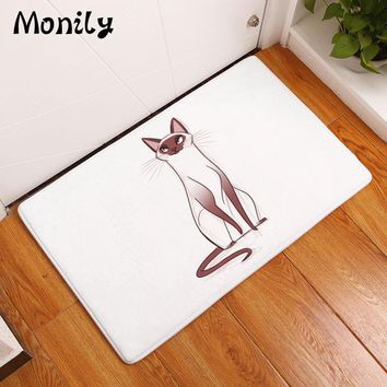 Autumn Fall welcome door mat doormat Monily Waterproof Anti-Slip  Cartoon Lovely Cat Cute Tiger Carpets Bedroom Rugs Decorative Stair Mats Home Decor Crafts AT_76_7