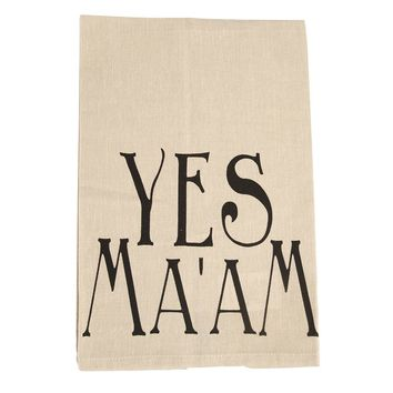 Creative Co-Op Yes Ma'am Hand Towel