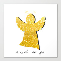 angel to go Canvas Print by Steffi Louis Finds&art
