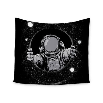"digital carbine ""Black Hole"" Fantasy Digital Wall Tapestry"
