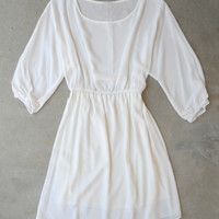 Chic Bohemian Dress in White [5830] - $32.00 : Vintage Inspired Clothing & Affordable Dresses, deloom | Modern. Vintage. Crafted.