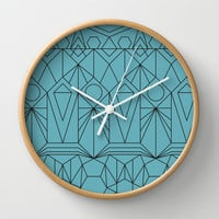My Favorite Pattern 10 Wall Clock by Mareike Böhmer Graphics