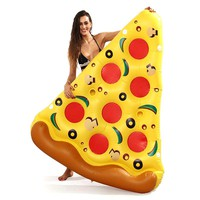 Inflatable 180X150CM Giant Pizza Swimming Pool Float Bed