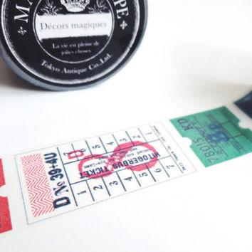 Tokyo Antique TICKETS tape MA-25K washi masking tape