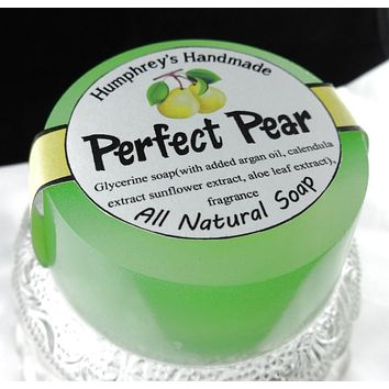 PERFECT PEAR Soap | Glycerin Juicy Pear Scent | Women's Soap | Argan Oil