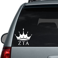 ZTA - Zeta Tau Alpha - inspired Crown logo Vinyl Decal made of Premium Indoor/Outdoor Vinyl