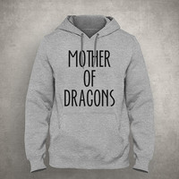 Mother of dragons - Gray/White Unisex Hoodie - HOODIE-019