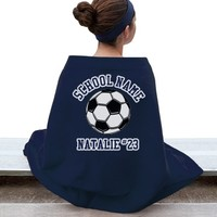 Soccer Player Fan Blanket: This Mom Means Business