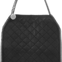 Stella McCartney - The Falabella quilted faux brushed-leather shoulder bag