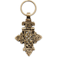 Fortuned Culture Gold Ethiopian Cross Key Chain