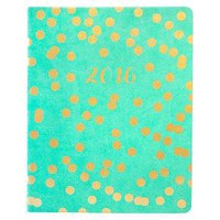 Eccolo 2016 Gold Confetti Weekly Desk Size Agend... : Target