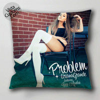 ariana grande pillow case, cushion cover ( 1 or 2 Side Print With Size 16, 18, 20, 26, 30, 36 inch )