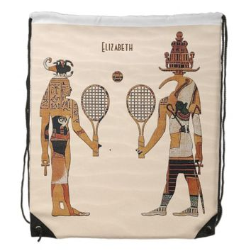 Ancient Egypt Gods Tennis Funny Backpack