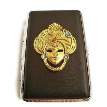 Cigarette Case Genuine ultra thin cigarette lady box leather cigarette case for women thin cigarette Cigarette Case 100's