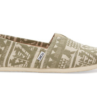 TOMS Olivine Tribal Men's Classics Green