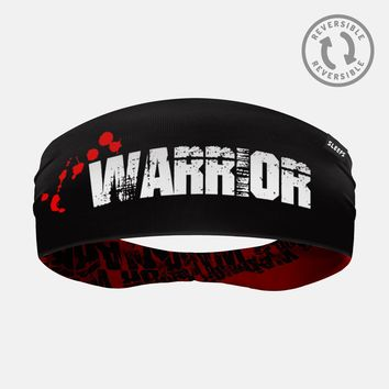 Warrior Word Red Double Sided Headband