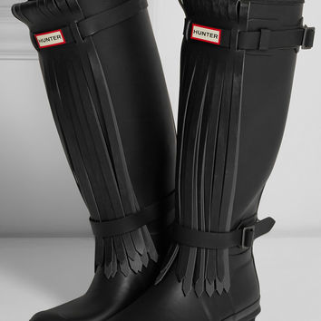 Hunter Original | Tall Fringe Wellington boots | NET-A-PORTER.COM
