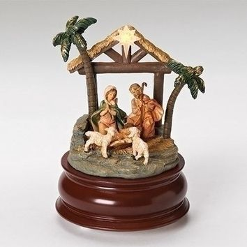 Roman Musical Nativity Stable Figurine