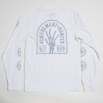 Limited Edition Achieve Git Gud Long Sleeve Tee - White Variant
