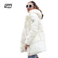 Fitaylor Winter wadded jacket women medium-long plus size thermal bread style parkas thickening hooeded cotton-padded jacket