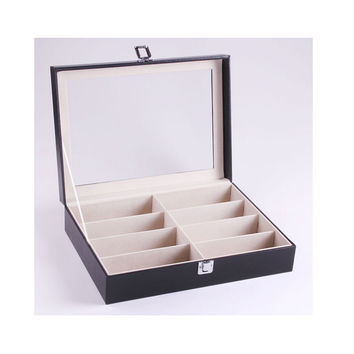 Top Grade Glasses Storage Box 8 Positions/Sunglasses Display Box/Glasses Storage Box/Sunglasses Box/Glasses Box    black