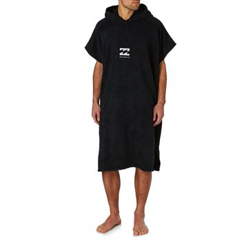 Billabong Vadar Hooded Towel Poncho - Black