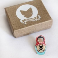 Supermarket - Matryoshka Lapel Pin from crywolf