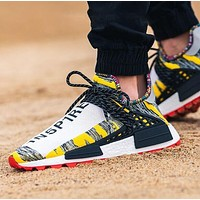 Adidas x Pharrell x BBC NMD Human Trending Couple Stylish Sport Running Shoes Sneakers
