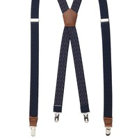 Get Essentials Dotted Suspenders - Men, Size: One Size (Blue)