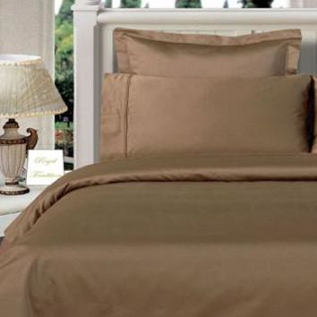Taupe Twin XL Combed cotton Solid 3Pieces Alternative Comforter set