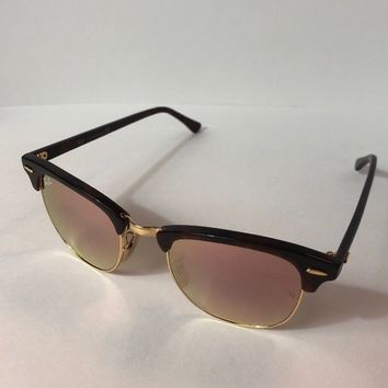RAY-BAN Sunglasses CLUBMASTER RB 3016 1160 49-21 Havana /Gold Frame w/Brown/Rose