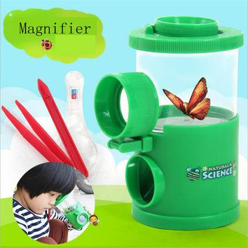 Insect Observation Magnifier Toy Science Experiment Magnifier Children Educational Toys Magnifier Set with Retail Box for Kids