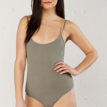 Basic Cami Bodysuit in Grey, Mustard, Green and Black
