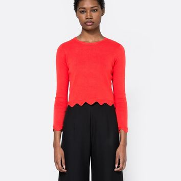 Farrow / Scallop Hem Sweater