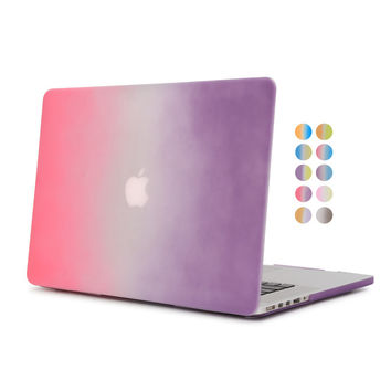 for apple macbook retina 13 inch rainbow gradient case hard plastic protective cover for mac book pro 13.1 with retina display