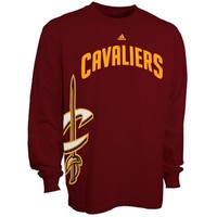 adidas Cleveland Cavaliers Getting Big Long Sleeve T-Shirt - Wine
