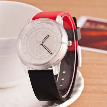 HIGHT QUALITY WOMENS FASHION CASUAL SILICONE SPORTS WATCH  384