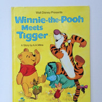 Vintage Winnie The Pooh Meets Tigger Golden Book