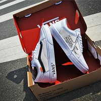 OFF-WHITE x Vans OLD Skool Skateboarding Shoes 35-44