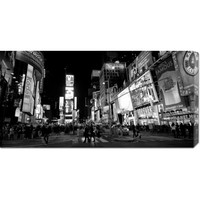 Global Gallery GCS3753231836142 Times Square at Night, NYC by Ludo H: 36 x 18 Canvas Giclees, Wall Art