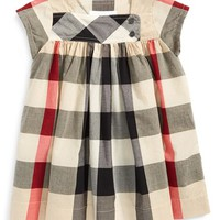 Infant Girl's Burberry 'Paisley' Check Print Dress,