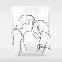 Dirty Dancing // Johnny and Baby Shower Curtain by Bethany Mallick