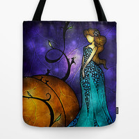 Cinderella (Once Upon A Time Series) Tote Bag by Mandie Manzano