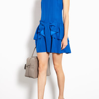 Red Valentino | Bow Front Crepe Silk Dress by Red Valentino