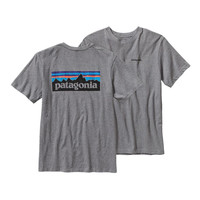 Patagonia Men's P-6 Logo Cotton T-Shirt- Gravel Heather