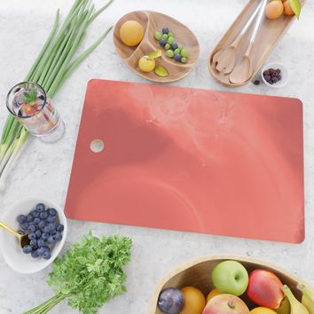 Coral gradient Cutting Board by duckyb