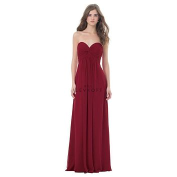 Bill Levkoff 479 Strapless Sweetheart Twisted Front Bodice Bridesmaid Dress