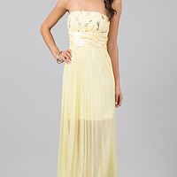 Floor Length Strapless Empire Waist Dress
